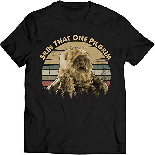Skin That One Pilgrim Vintage Shirt Jeremiah Johnson Lovers Movie Fan T Shirt Men T-Shirt (S, Black)
