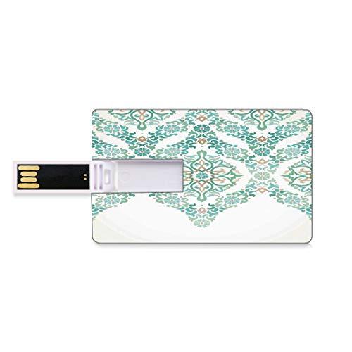 64GB Unidades Flash USB Flash Decoración Tradicional Forma de Tarjeta de crédito bancaria Clave Comercial U Disco de Almacenamiento Memory Stick Formas de guirnaldas góticas simétricas de la Edad Med