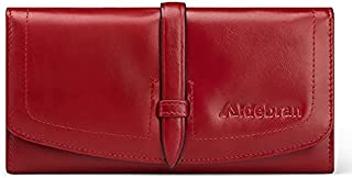 Aldebran Italian Genuine Leather Purse for Women Luxurious Ladies Wallet RFID Protected Long Wallet Spacious Compartments ...