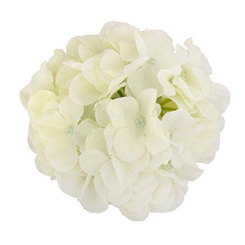 ROSENICE 20pcs künstliche Hortensie Blumen für zu Hause Hochzeitsdekoration (weiß)