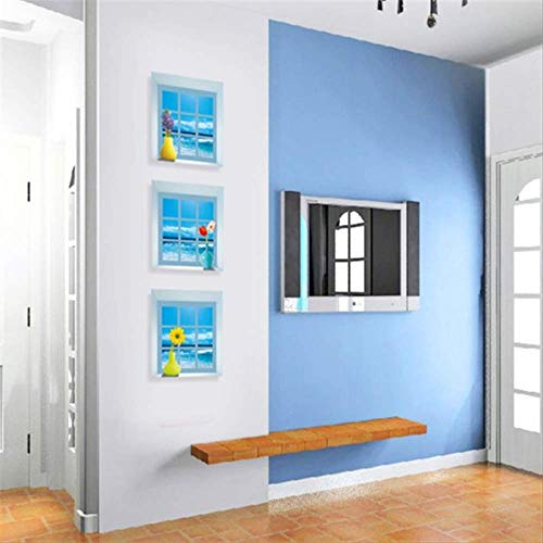 Muursticker wanddecoratie stickers, 3D stereo vensterbank vazen decoratieve pvc binnen snijden muursticker