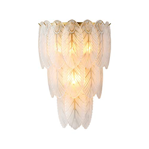 xuejuanshop Sconces Crystal Wall Light, Wall Lamp, Modern Feather Wall Lamp Bedroom Living Room Lighting Wall Sconces