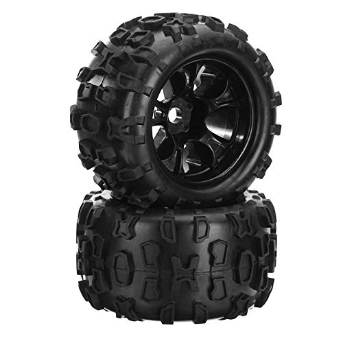 ShineBear DHK Maximus 8382-704 1/8 Wheel Tire Tyre Rim Glued Complete 2PCS RC Car Parts