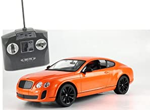 Radio Remote Control Model Car 1/14 Bentley Continental GT RC Ready to Run (Orange) by Midea Tech
