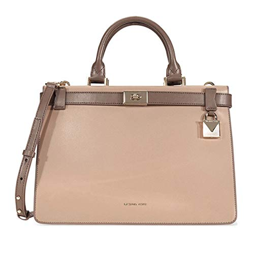 "Small-sized bag; 10-3/4""W x 7-1/2""H x 4-1/4""D (width is measured across the bottom of handbag); 1.54 lbs. approx. weight 4-1/2""L handles; 21""L to 23""L removable strap Turn-lock closure Gold-tone exterior hardware; varies by color 1 interior zip pocke..."