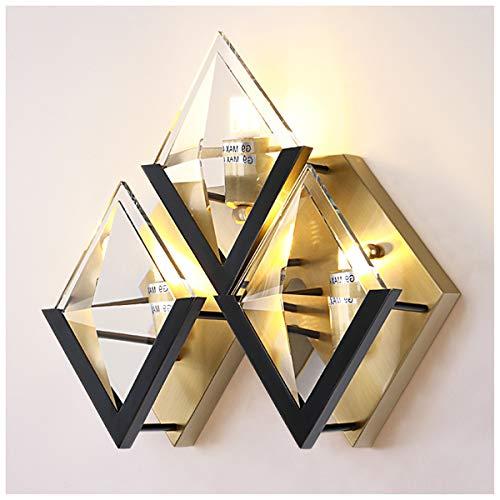 WLMGWRXB Light Luxury Crystal wandlamp van koper, eenvoudige ingang, trappen, nachtkastje, woonkamer