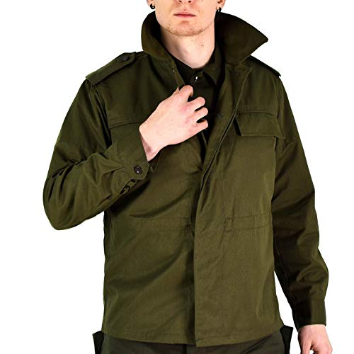 Original Vintage Czech Army Field Jacket M85 Olive Green Military Surplus Issue New, Olive Drab, Medium Long