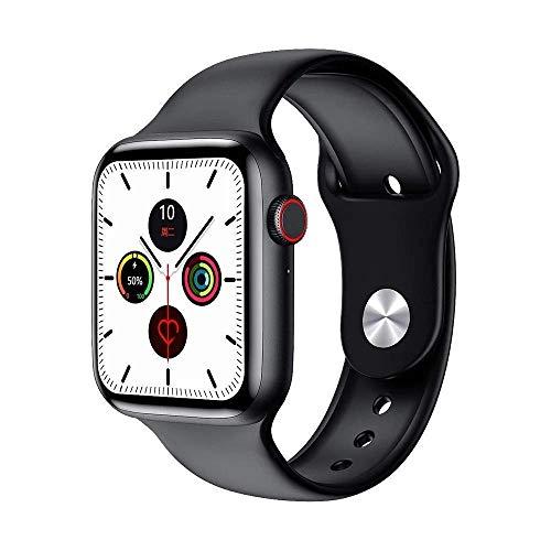The Warm House W26 Plus Smart Watch Full HD Infinite Screen Display 44mm Watch 6 Series Bluetooth ECG Monitor, Sports Mode, Bluetooth Calling, Heart Rate Sensor. (Black)