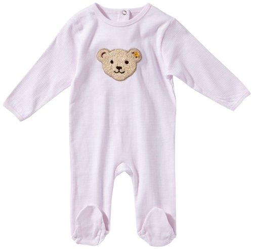 Steiff Unisex - Baby Strampler, gestreift 0006641, Rosa (2560 ), 56