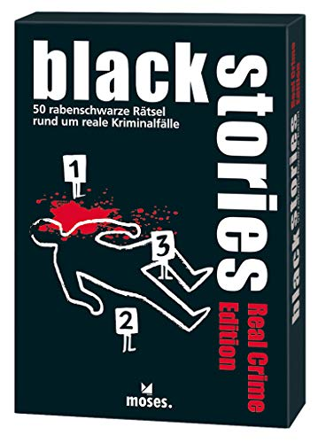 moses. black stories Real Crime Edition, 50 rabenschwarze Rätsel, Das Krimi Kartenspiel