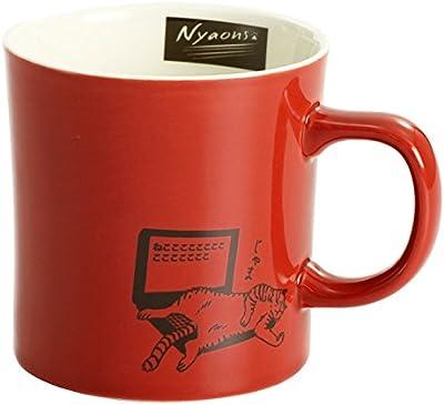 セラミック藍 ニャオンズ マグカップ RD サイズ:約φ8.5 H9 13222
