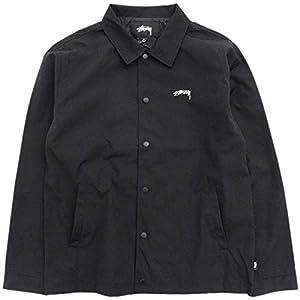 [ステューシー] ジャケット メンズ Classic Coach サイズL ブラック [並行輸入品]