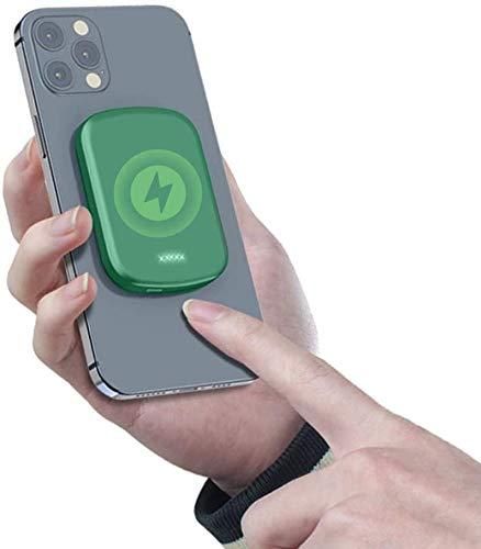 Cargador portátil inalámbrico MAG-SAFE, cargador de teléfono rápido de 15W Magnético Power Bank PD rápido, fuente de alimentación de respaldo USB, compatible con iPhone 12/12 MINI / PRO / MAX / IWATCH