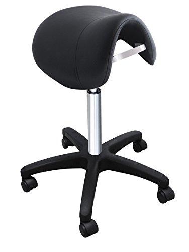 Preisvergleich Produktbild Comair 3070145 Fortuna Sattelrollhocker Sattelhocker,  schwarz