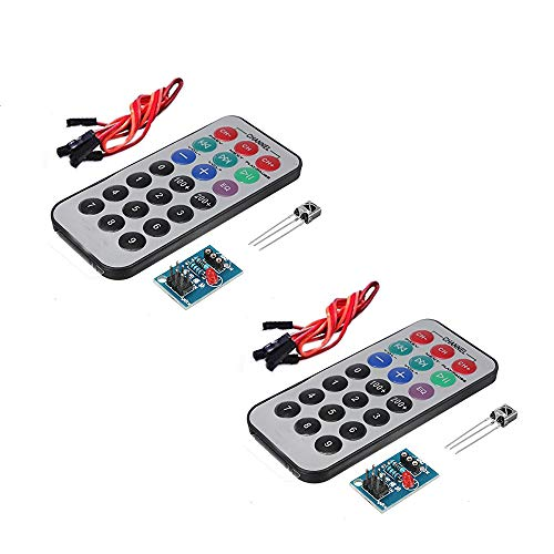 KOOBOOK 2 Juegos HX1838 NEC Infrarrojo IR inalámbrico Sensor Módulo IR Receptor módulo DIY Kit para arduino
