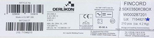Oerlikon Fincord - Electrodos de soldadura (210 unidades, 1,5 x 350 mm)