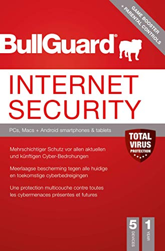 Bullguard Internet Security 2019 - 1 Jahr 5 Geräte! Windows|MacOS|Android [Online Code]