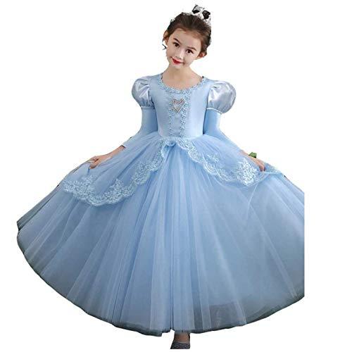 SONG Vestido de Princesa para niñas, Disfraz de tutú Puff, Disfraz de Halloween, Carnaval, Cosplay, Vestido de Fiesta de cumpleaños de Navidad,100