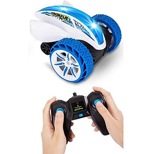 WGFGXQ RC Cars Coche de Carreras de 2,4 GHz Coche teledirigido 360 & deg;Coche de Carreras de giros y Volteretas con vehículo de Carreras de Flash de Alta Velocidad, Coche de conducción para niños