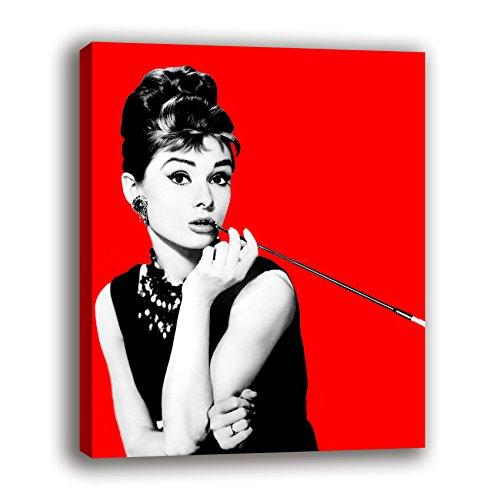 Oops Cuadro Lienzo Audrey Hepburn sobre Bastidor de Madera, Listo para Colgar (40x30)