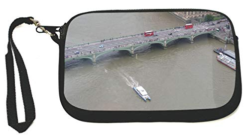 Westminster Bridge London Birds Eye View Vndw Zipper Coin Purse - Wristlet - Camera Case - MP3 Case - Ideal for carrying Phone, Cash, Cosmetics, mp3 player, etc. etc.