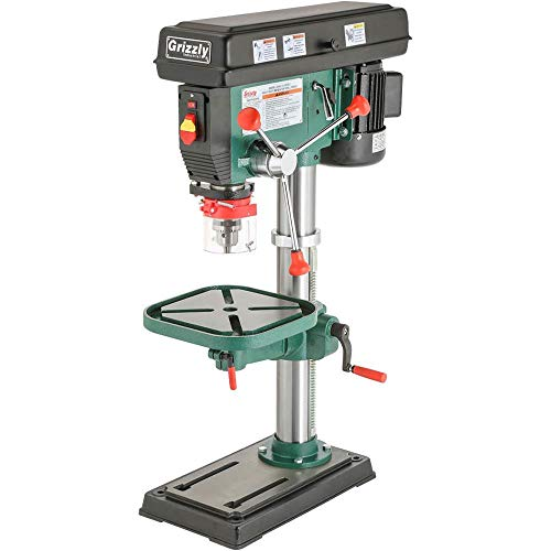 Product Image of the Grizzly G7943 12 Speed Heavy-Duty Bench-Top Drill Press