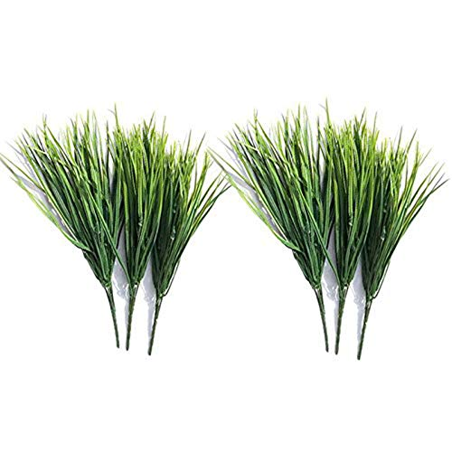 Sprießen - Plantas Artificiales para Interior y Exterior, para casa, Cocina, Oficina, Boda, jardín, balcón, decoración Verde, 6 Unidades