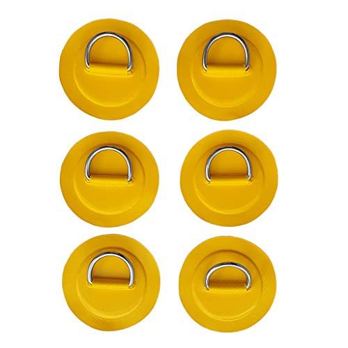 sharprepublic Reemplazo de Parche en D de Acero Inoxidable para Bote Inflable de Resistencia de 6 Piezas