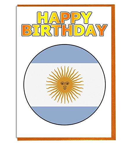 Argentinië Vlag - Verjaardagskaart - Vriend - Familie - Collega - Mate - Boss - Loved One
