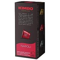 kimbo capsule napoli compatibili nespresso, intensità 10/12, 10 astucci da 10 capsule (totale 100 capsule)
