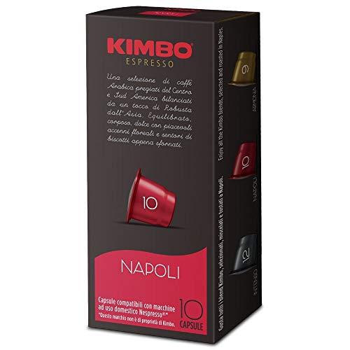 Kimbo Capsule di Caffè Napoli, Compatibile con Nespresso, 10 Pacchi da 10 Capsule (Totale 100 Capsule)
