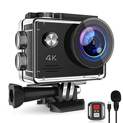 4K 20MP Action Camera, WiFi Underwater Cameras with EIS External Microphone...