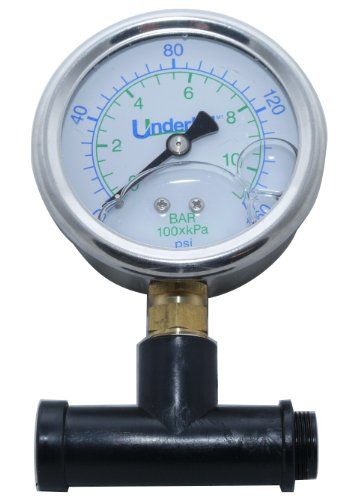 Underhill A-SHG-160K Sprayhead Tester Adapter with Pressure Gauge for Female Nozzles