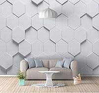 xueshao 幾何学的なステレオ抽象的な背景の壁シンプルな北欧のカスタム壁紙壁画3D寝室の背景の壁-150X127CM