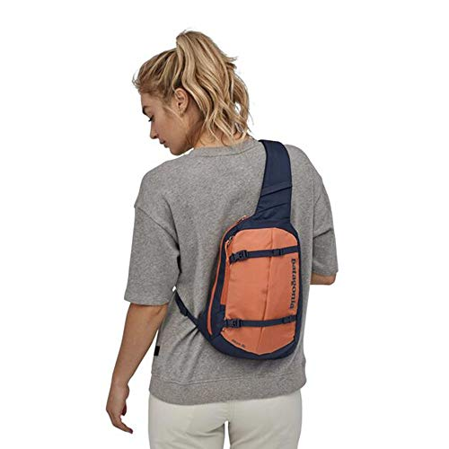 Patagonia Atom Pack 18L Sac à dos mixte adulte Taille unique Bleu marine/orange (Classic Navy/Mellow Melon)