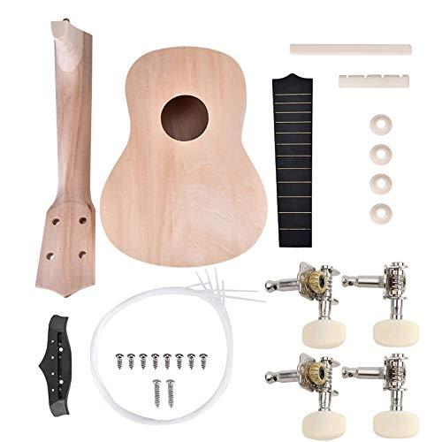 Ukelele DIY Kit, 21 Zoll Basswood 4-saitiges Machen Sie Ihre Eigenen Gemalten Ukulele Hawaii, Ukulele Selber Bauen Bausatz Ukulele Gitarre Bausatz, Geschenk für Freunde/Kinder