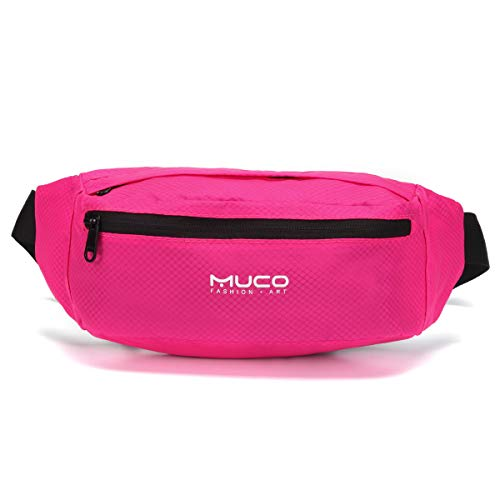 MUCO Fanny Pack Waist Bag Mens Womens Resistant Waterproof Lightweight Travelling Sports...
