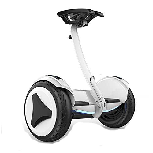 Gmjay Hoverboard Smart Self Balanced Scooter Eléctrico, Gestión de Bluetooth, Luces LED, para Niños y Adultos,White