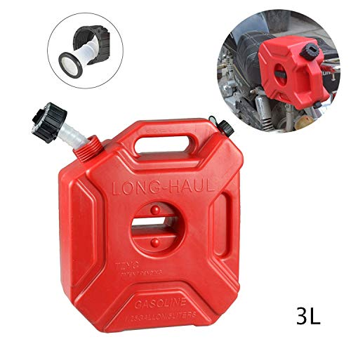 SEESEE.U Benzin Aufbewahrungsboxen Motorrad 3L Katheter Stapelbar Tragbar Universal Öl Diesel Notaufbewahrungsbox -21,5x12x25cm A.