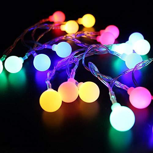 Luces Led 2 Metros 20 Luces Pequeña Bola Cadena con Caja de Batería Luz Cadena Led Luces de Navidad Decoración del Hogar