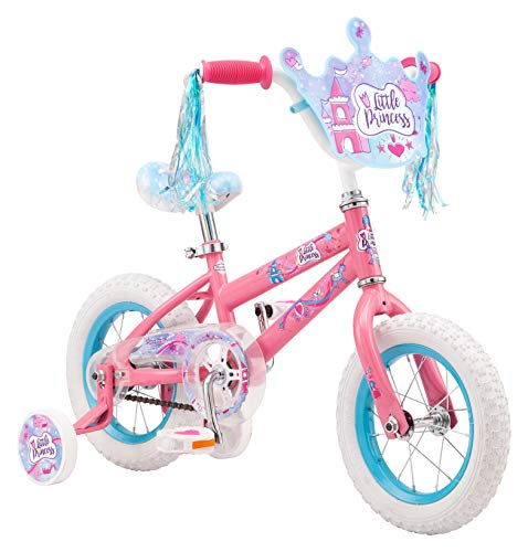 Pacific Princess Character Kids Bike, 12-Inch Wheels, Ages 3-5 Years, Coaster Brakes, Adjustable Seat, Pink, One Size