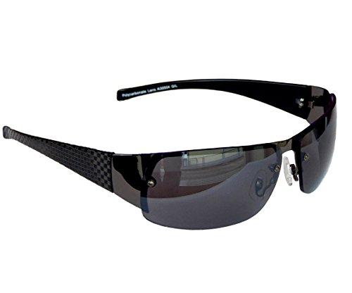 GANGSTER SONNENBRILLE Schwarz Grau Carbon SPORTBRILLE MOTORRADBRILLE SPORT BRILLE