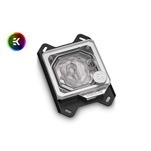 EKWB EK-Quantum Velocity CPU Water Block, AMD CPU, Digital RGB, Nickel/Plexi