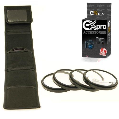 Ex-Pro Makrofilter für Kameras, 4 Stück, mit Etui