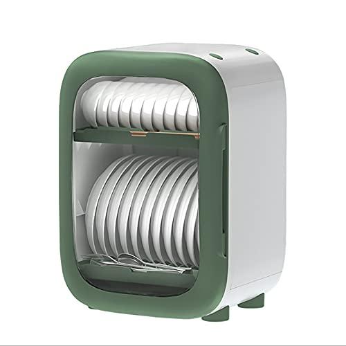 LGQ Desagüe de Cocina Estante para Platos desinfección Armario vajilla Caja de Almacenamiento esterilización Ultravioleta Estante para Platos Beige Verde Azul,Verde