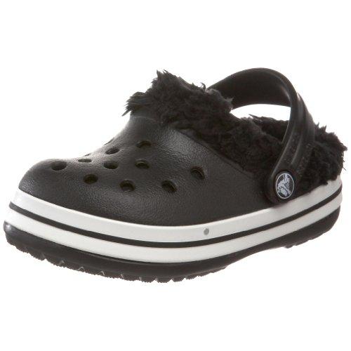 crocs 11128 Crocband Mammoth Kids, Unisex - Kinder Clogs & Pantoletten, Schwarz (Black), EU 22-24 (UK C6-7)