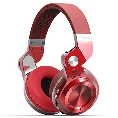 Qks Bluetooth Headset, Plug-in-Karte, Plug-in-Subwoofer, Stereo Wireless Gaming Headset Musik, Lange Batterie-Lebensdauer,Rot
