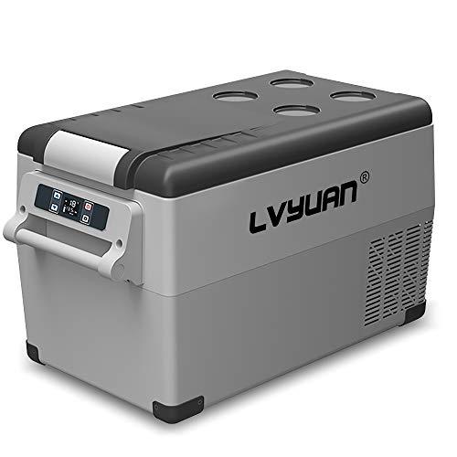 LVYUAN CF35 Portable Refrigerator 12 Volt Car Freezer 35L Vehicle, Car, Truck, RV, Boat, Mini Fridge Freezer for Driving, Travel, Fishing, Outdoor -20°C to 20°C