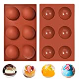 【High Quality Silicone】The Chocolate mold is Made from 100% food-grade silicone,BPA free,stronger,more flexible and durable,complying with safety standards,eco-friendly and non-toxic and tasteless. 【Proper Temperature】Food Grade Silicone,heat resista...