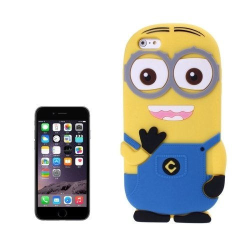 1679b154da Generic 3D Despicable Me II Minions Style Silicone Case for iPhone 6 (Blue)